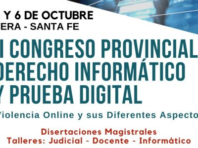 II CONGRESO PROVINCIAL DERECHO INFORMÁTICO Y PRUEBA DIGITAL