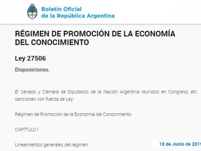 NUEVO RÉGIMEN DE PROMOCIÓN DE LA ECONOMÍA DEL CONOCIMIENTO